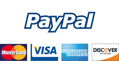 We accept PayPal using the form below